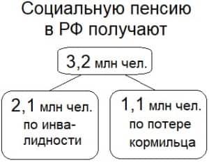 Социальную пенсию в РФ получают более 3 млн чел